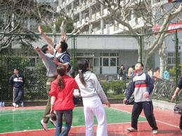 我院举办男女生混合篮球赛