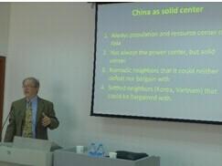 """弗吉尼亚大学教授布兰特尼﹒沃马克讲授""""亚洲与非对称性"""""""