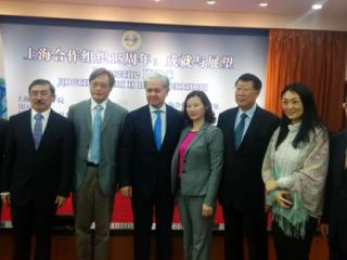 周边中心主任冯绍雷教授出席上海合作组织成立15周年纪念活动