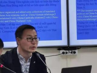 """周边中心梁志教授、高嘉懿老师访问越南社会科学与人文大学,双方开展了""""中越关系及其他:问题与趋势""""工作坊"""